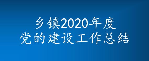 乡镇2020年度党的建设工作总结