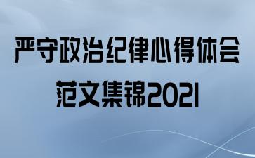 严守政治纪律心得体会范文集锦2021