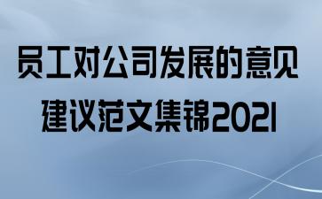 员工对公司发展的意见建议范文集锦2021