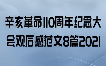 辛亥革命110周年纪念大会观后感范文8篇2021